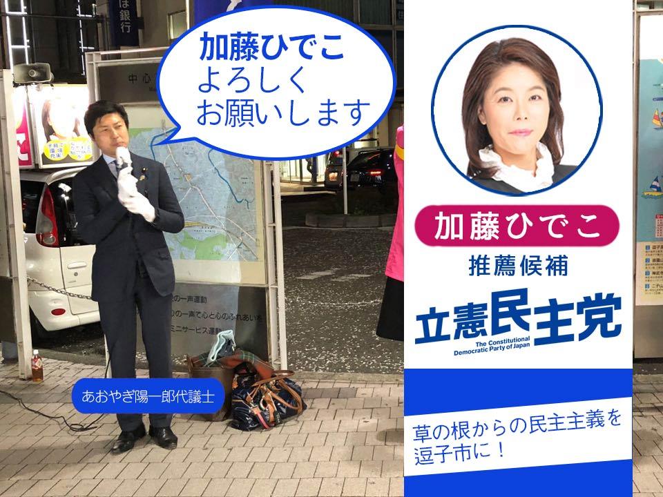 逗子市議選2018 加藤ひでこ
